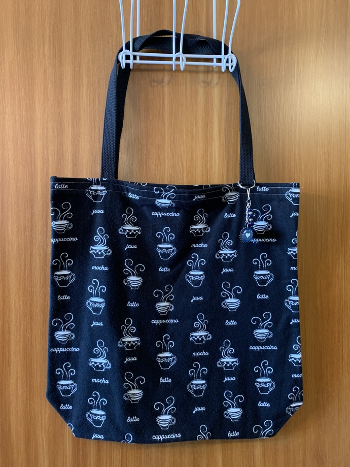 Large coffee cup tote bag