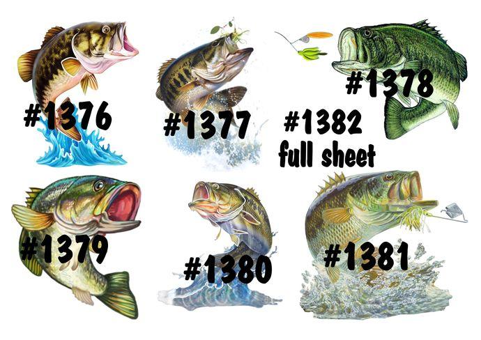 """Waterslides """"Fish On"""" Laser Printed"""