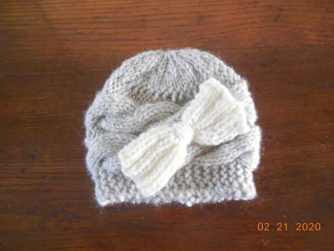 Extra Small Newborn Hat with Bow