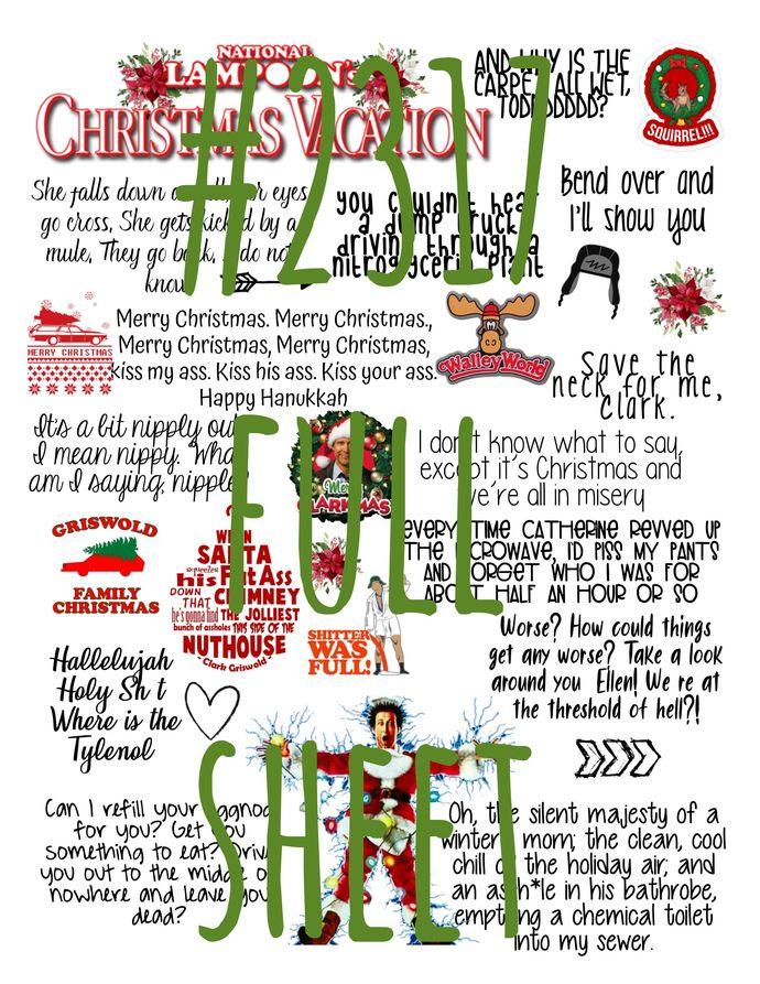 "Waterslides ""Christmas Vacation"" Laser Printed"