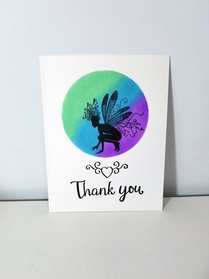 Fairy greeting card, thank you card