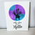 fairy greeting card, hello, friendship card