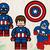 Captain america toy sVG files, Captain america svg, eps, dxf files for cricut,