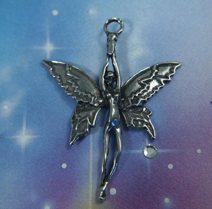 Large Soaring Fairy Pendant