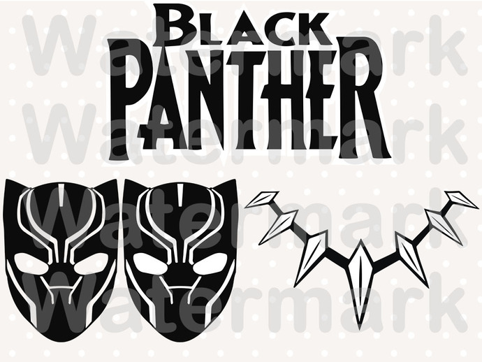Black Panther SVG files, Black Panther clipart, eps, dxf files for cricut,