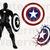 Captain America SVG files, Captain America Clipart, eps, dxf files for cricut,