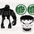 Hulk bundle SVG files, Hulk svg, eps, dxf files for cricut, Cutting machines,
