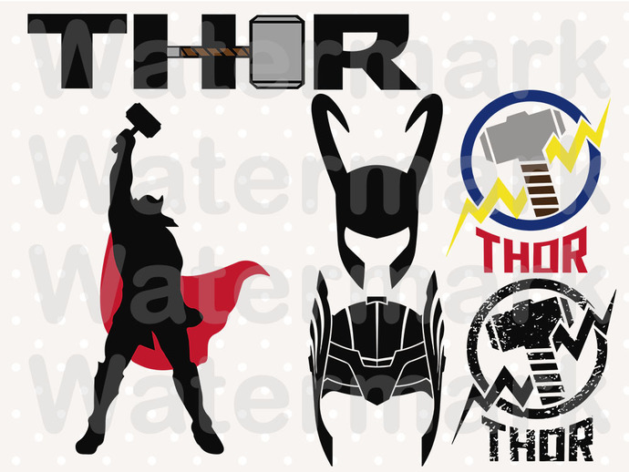 Thor Bundle SVG files, Thor svg, eps, dxf files for cricut, Cutting machines,