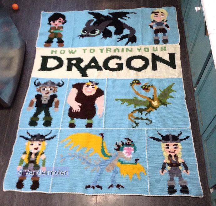 How to Train your Dragon 11 Patterns includes Graphs with Written Color Chart
