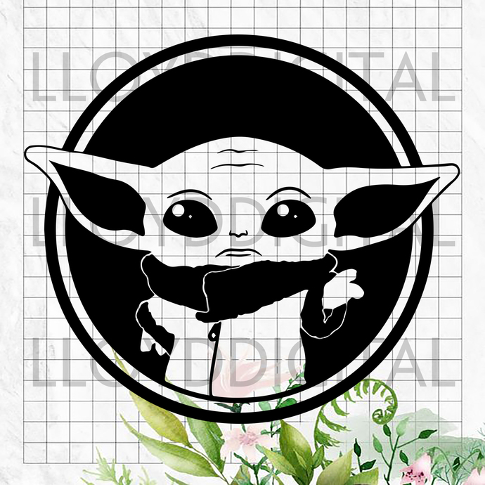 Baby Yoda Star Wars printable shirt svg png jpg dxf eps clipart cutting files
