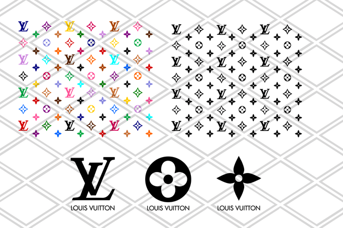 Louis Vuitton Svg, LV Bundle, Brand Logo Svg, Louis Vuitton Pattern, Cricut File