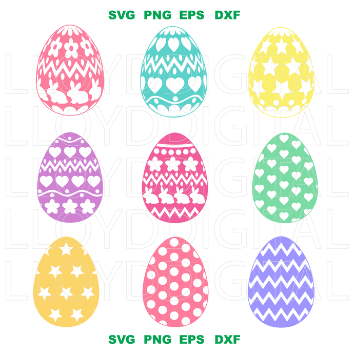 Get Happy Easter Eggs With Butterflies / Svg Dxf Png Eps Cutting File Silhouette Cricut PNG