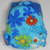 Blue Summer Floral - Cloth Diaper or Cover - You Pick Size and Style - Made to
