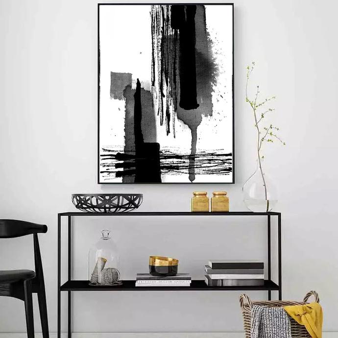 Modern Abstract Art, Printable Art, Abstract Prints, Digital Paintings, Ink Art