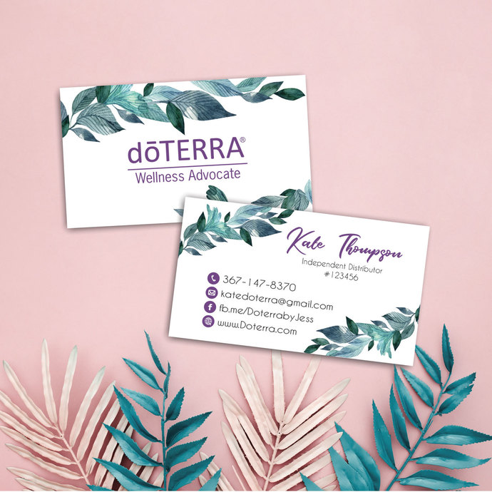 Doterra Business Cards, Personalzied Doterra Essential Oils Card DT25