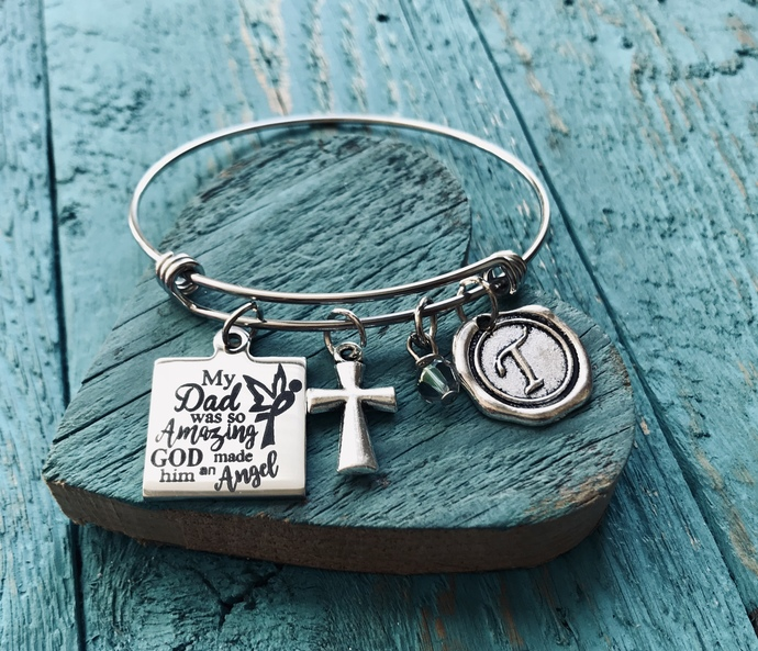 God made him an angel, Memorial, Bereavement, loss of loved one, Silver