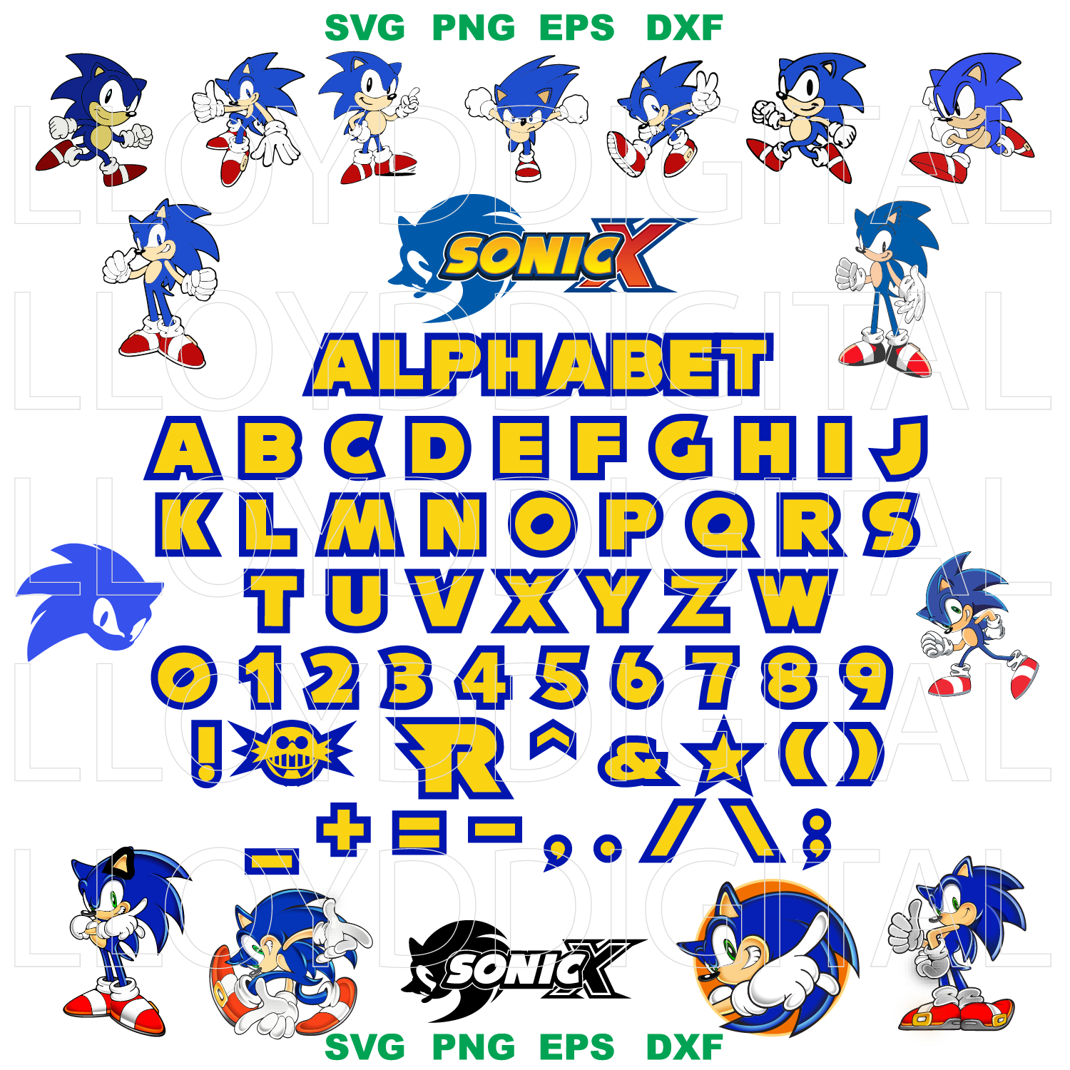 Sonic Svg Sega Videogame Hedgehog Sonic By Lloyd Shop On Zibbet