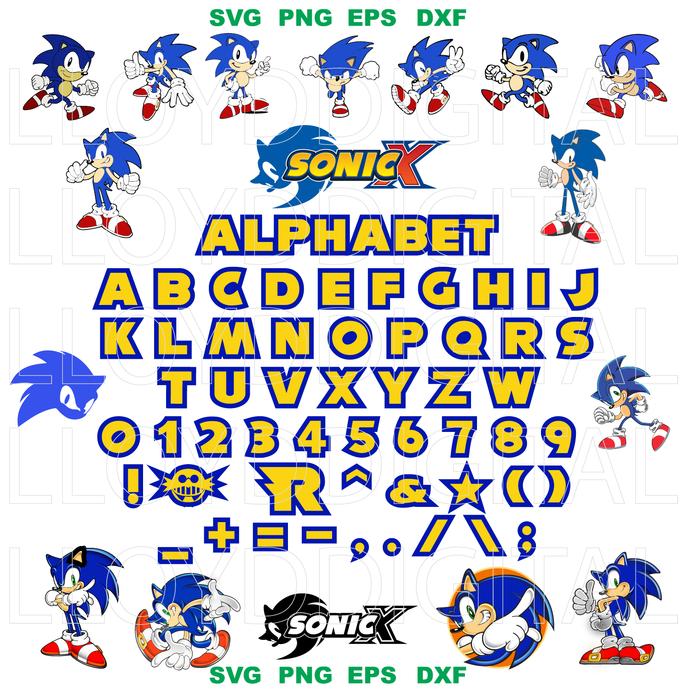 Sonic Svg Sega Videogame Hedgehog Sonic By Lloyd Shop On Zibbet