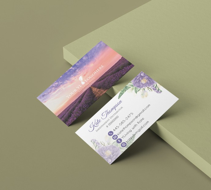 Young Living Business Card, Personalized Young Living Cards, Essential Oil
