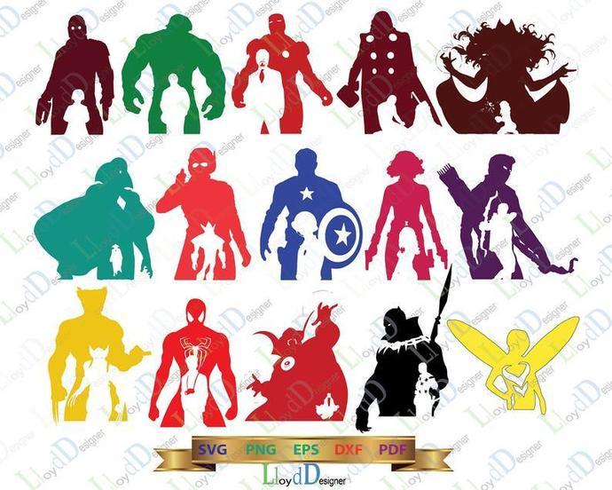 Marvel superhero SVG Avengers Superheroes Sign Avengers svg superhero clipart