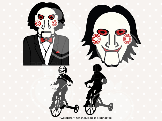 Billy from jigsaw svg files, Jigsaw clip art, Billy jigsaw svg cut files dxf,
