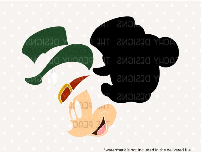 Mickey Mouse Disney Saint Patrick files, mickey mouse st patrick's day svg files