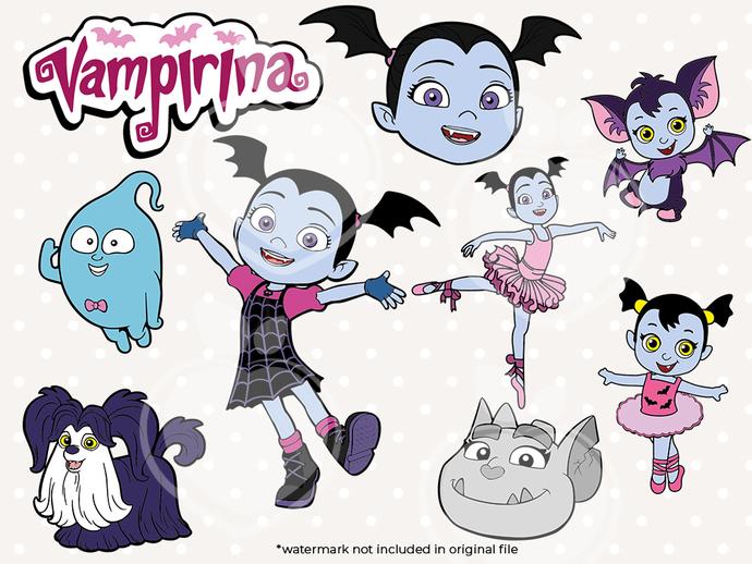 Vampirina bundle svg files, Vampirina svg characters, clip art, cutfiles eps,