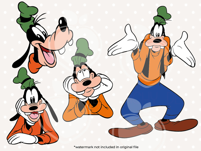 Goofy svg files, Goofy clip art, Goofy svg cut files dxf, eps png files,