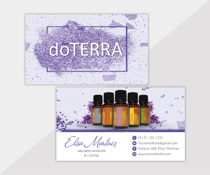 Personalized Doterra Business Card, Essential Oil Business Cards, Custom