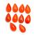 Carnelain Hand polished Pear cabochon 13x8  mm Semi Precious Loose Gemstone,