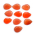 Faceted Carnelian Pear 14 x 10 mm semi precious Loose Gemstone,Carnelian Faceted