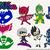 Pj masks svg files, dxf, eps, png bundle, pj masks clip art, cutfiles,