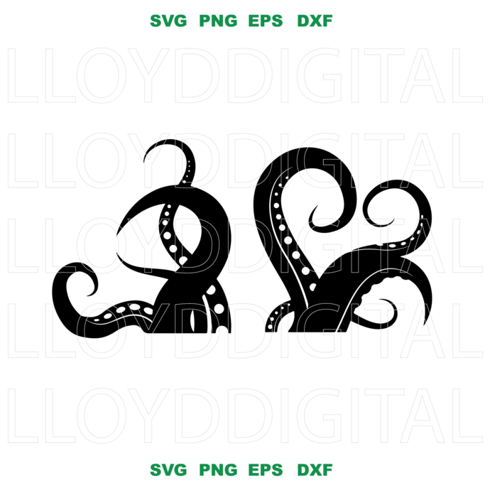 Octopus SVG Octopus Tentacles animal svg silhouette birthday svg eps png dxf