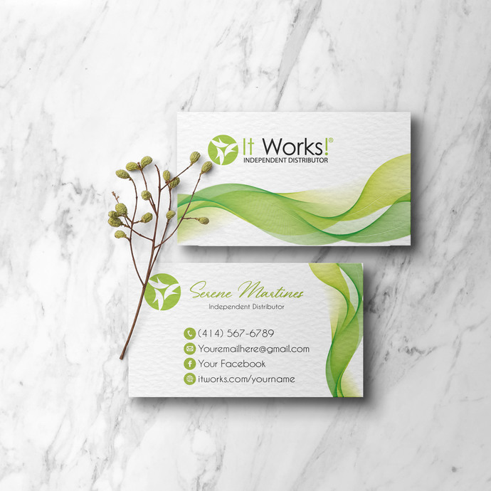 It Works Business Cards, It Works Global Cards, It Works IW02