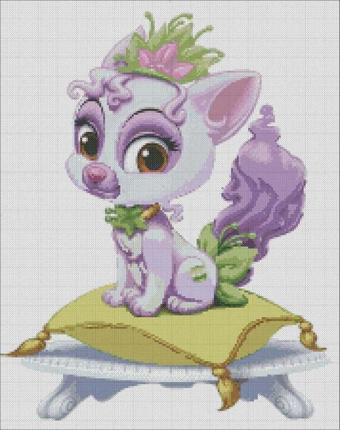 Pet Princess Tiana cross stitch,Royal Pets embroidery,cat Princess pattern,Pets