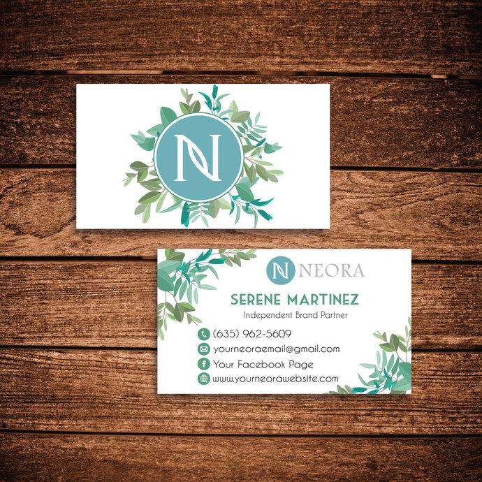 Neora Business Cards, Personalized Neora Template NE02
