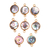 Gold platted silver Bazel Freshwater Pearl connector gemstone suppliers