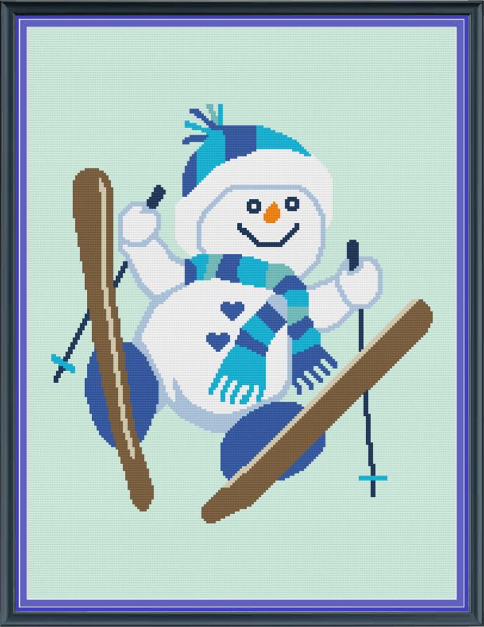 Snow Skiing-Throw-180x240