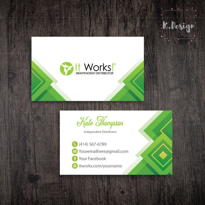 It Works Business Cards, It Works Global Cards, It Works IW03