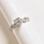 US 7 - 925 Sterling Silver Ring with stone Cubic Zirconia, Engagement Ring,
