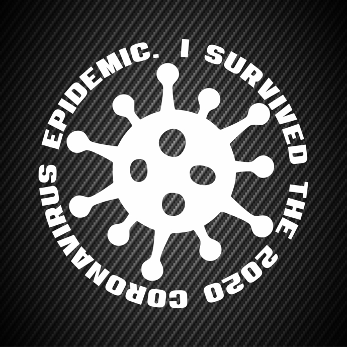 car00319 I survived the 2020 Coronavirus epidemic Car stickers, Car decals,