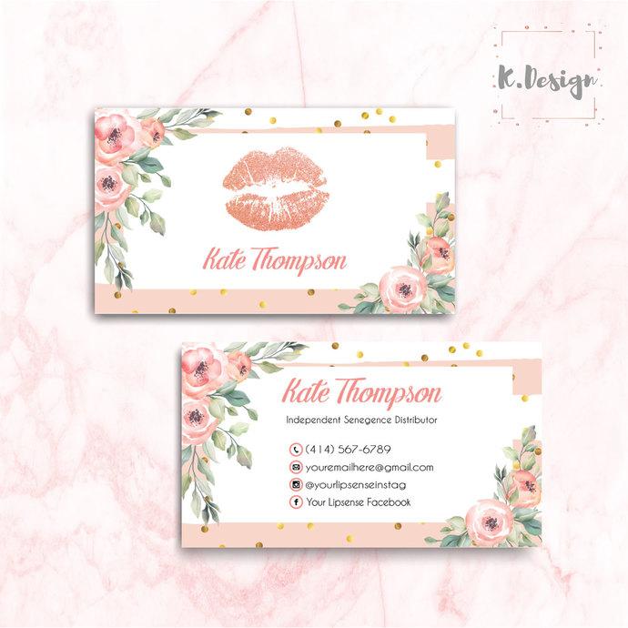 Lipsense Business Cards, LipSense Tips and Tricks Card , LipSense LS04