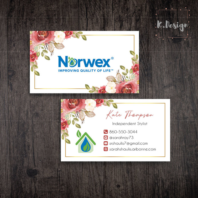 Norwex Business Cards, Personalized Norwex Template NW03