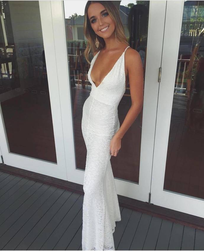 Charming Prom Dress,Sleeveless Prom Dresses,V Neck Sexy Evening Dress,Long Prom