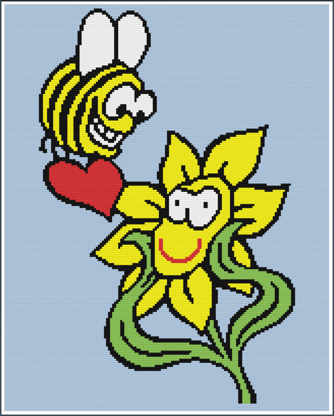 BEE MINE - GRAPH -160 X 200- LINE BY LINE INSTRUCTIONS IN WORD AND BLOCKS FORM