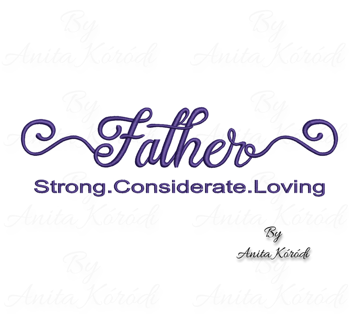 Father's day Embroidery Machine Designs Happy Dad Digital instant Download in
