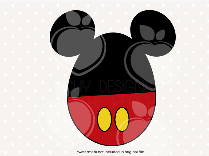Mickey Mouse Easter egg svg, dxf, eps, png files, Clipart, cut files, Easter egg