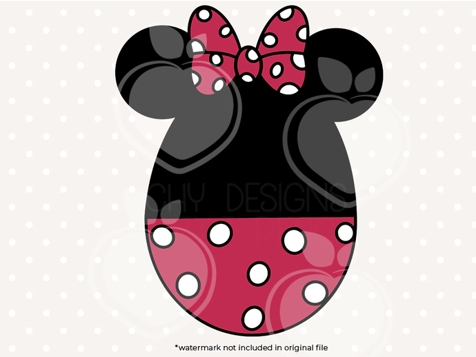 MInnie mouse Easter egg svg, dxf, eps, png files, Clipart, cut files, Easter egg