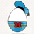Donald Duck Easter egg svg, dxf, eps, png files, Clipart, cut files, Easter egg