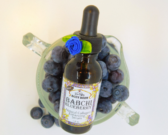 Babchi Oil Blueberry Oil Face Serum with Abyssinian Oil, Black Currant Oil, Hemp